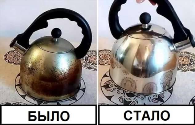 Как сделать копеечное и эффективное средство для удаления нагара с чайника